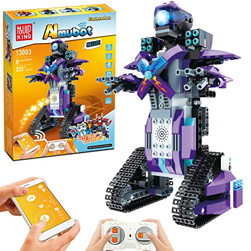 STEM Robot Toys for Kids, Cool Science Building Block Kit for Boy and Girl, Fun Educational Remote Control Toy with App Control for Learning for 8 9 10 11 12 13 14 Year Old Boys and Girls (Purple)
