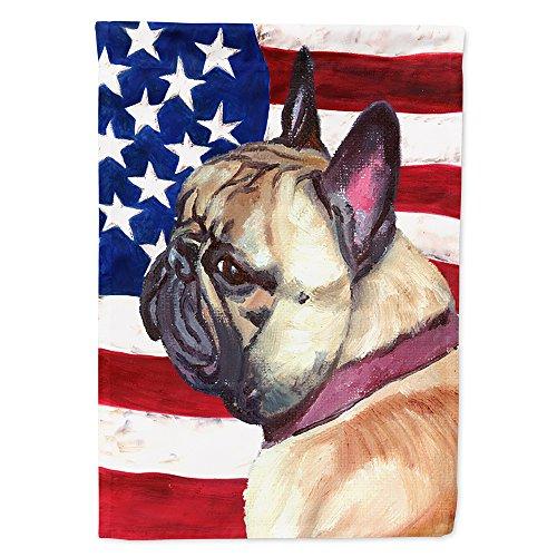 Caroline's Treasures LH9545GF French Bulldog Frenchie USA Patriotic American Flag Flag Garden Size, Small, Multicolor