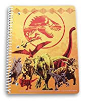 Jurassic World T-Rex スパイラル綴じワイド罫線ノート - 50枚