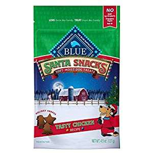 Blue Buffalo Santa Snacks Tasty Chicken Recipe Soft Dog Treats 4.5-oz Bag