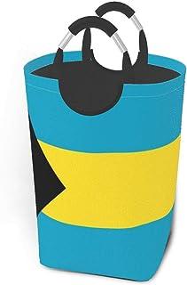 Paniers de rangement du drapeau des Bahamas Panier à linge sale flexible Sac de rangement écologique Sac de tri amovible C...