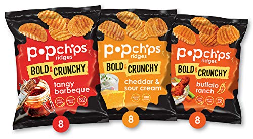 24-Count 0.8-Oz Popchips Ridged Potato Chips Variety Pack $10.62 ($0.44 each) w/ S&S + Free Shipping w/ Prime or on orders over $25