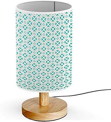 ARTSYLAMP - Wood Base Decoration Desk Table Bedside Light Lamp [ Polygonal Elements ]