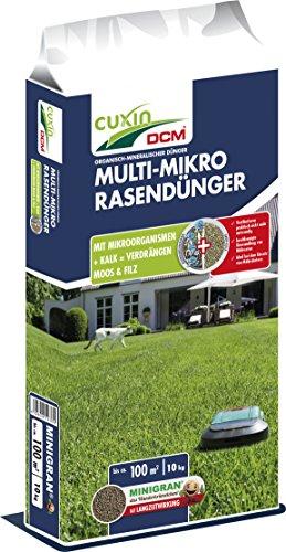 Cuxin Langzeit-Rasendünger mit 3 Monate Langzeitwirkung | für sattes Grün ohne Moos | 10kg | bis zu 100 m² | NPK 7-4-17 + 3 MgO + 13 CaO