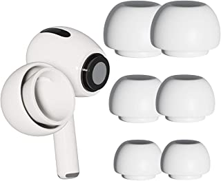 [3 Pairs] Ear Tips for Airpods Pro Replacement Silicone Ear Buds with Noise Reduction Hole (Fit in Charging Case) Small   ...