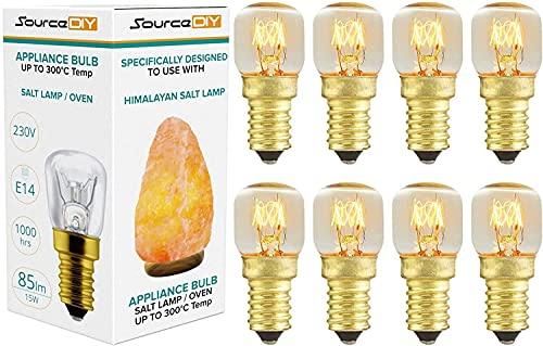 Salt Lamp Bulbs 15 Watt E14 (Pack of 8 ) Dimmable Small...