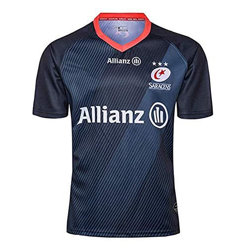 2019 Sarracens Rugby Jersey Camisetas, Athlette's Fan Transpirable Ftbol Manga Corta Sport Top Cmodo Polo-XL