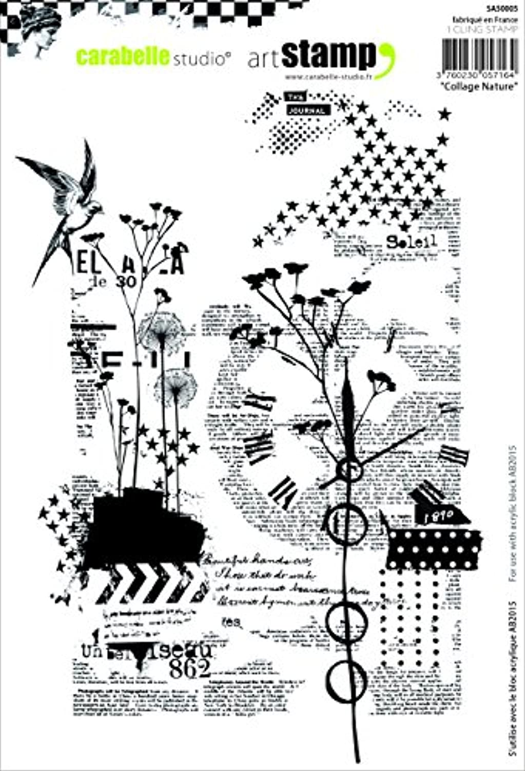 Carabelle Studio A5 Unmounted Stamp Set - Collage Nature