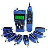 NOYAFA Network Tester,AT112 Network Ethernet LAN Phone Tester wire Tracker USB coaxial Cable 8 Far-end Jacks NF-388, Blue