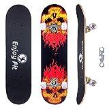 EnjoyFit Skateboard Komplettboard 80 x 20 cm mit ABEC-7...