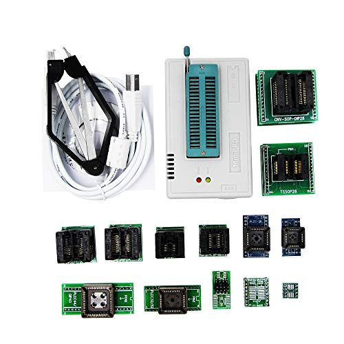 WOVELOT Pro Tl866Ii Programador Plus?+ 13 Adaptadores + Sop8 Clip 1.8V Nand Flash 24 93 25 Mcu Bios Eprom Avr Programa