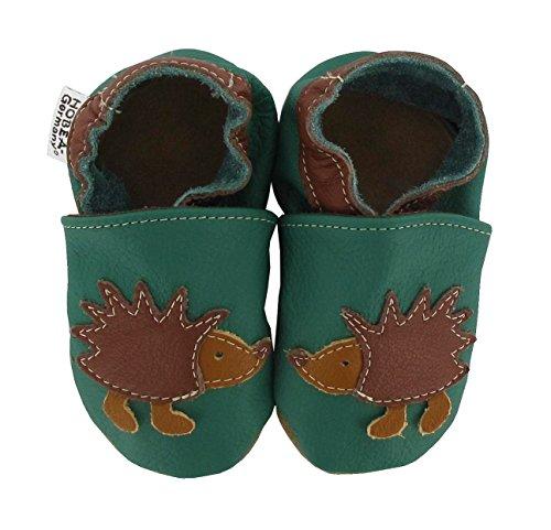 HOBEA-Germany Krabbelschuhe Babyschuhe mit Tieren, Schuhgröße:16/17 (0-6 Monate), Modell Schuhe:Igel