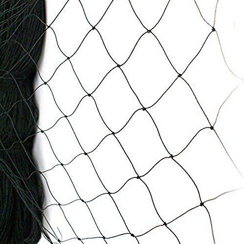 boknight 25' X 50' Net Netting for Bird Poultry Aviary Game Pens New 2.4' Square Mesh Size (25'×50'-2.4'')