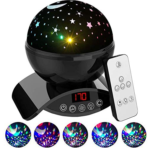 Foreita Baby Star Light Projector - Dimmable Combinations Chargeable Remote Control Star Light Rotating Projector Night Lights for Kids Baby Children