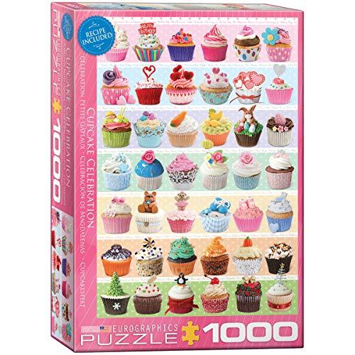 EuroGraphics Cupcake Celebration Puzzle (1000-Piece), Model Number: 6000-0586