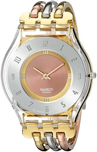 Swatch SKIN - Reloj analógico de mujer de cuarzo con correa de acero inoxidable multicolor - sumergible a 30 metros