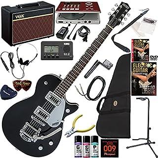 GRETSCH Electromatic エレキギター 初心者 入門 セットネック仕様のJET ギターの練習が楽しくなるCDトレーナー(エフェクターも内蔵)と人気のギターアンプVOX Pathfinder10が入った強力21点セット G5230...