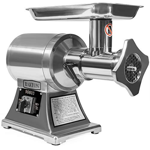 Barton 1100W Electric Meat Grinder Mincer Stainless Steel Sausage Maker #22 Grinder with Cutting Blade