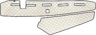 AutoCommerse Armaturenbrett Abdeckmatte aus PU Leder für FH4 Euro 6 2013+ LKWs, Linkslenker, Beige mit Sensor
