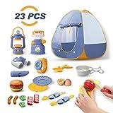 DEERC Kids Camping Tent Set Toys 23pcs Includes Pop Up Play Tent, Camping Gear Tools Adventure Set,...