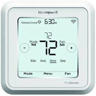 "Honeywell TH6320WF2003/U Lyric T6 Thermostat, 3 Heat / 2 Cool Heat Pump Or 2 Heat / 2 Cool Conventional, 4.09"" x 4.09"" x ..."