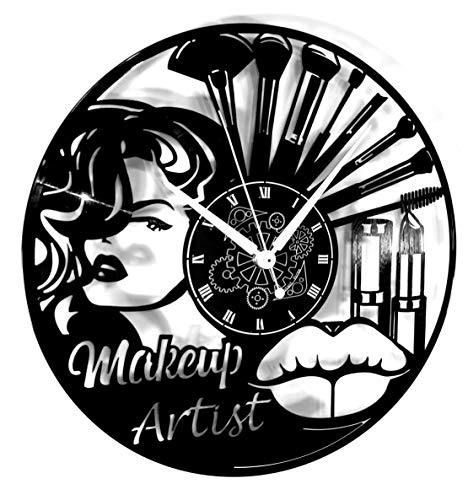 Instant Karma Clocks Orologio da Parete Salone Bellezza Donna Trucco Make Up Makeup Artist, Vintage, Handmade