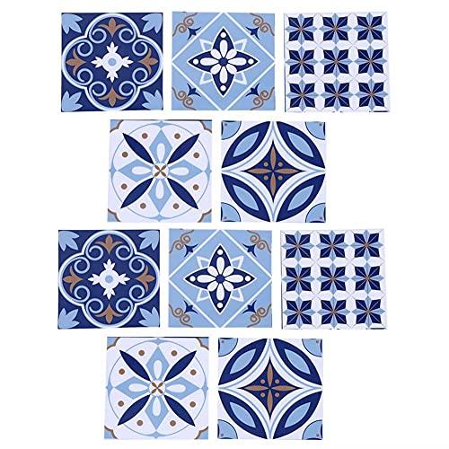 Roberee Azulejos adhesivos-10 Piezas Impermeable PVC azulejo Pegatina Piso Pared Pegatina Arte hogar habitación decoración de Fondo