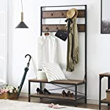O&K FURNITURE 72 Inch Hall Tree with Storage Bench, Entryway Shoe Rack...