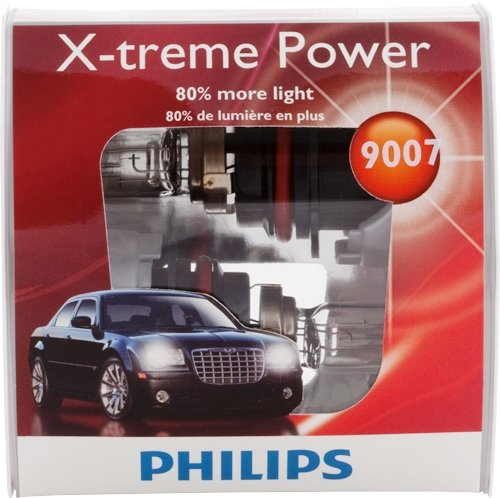 Philips 9007 X-treme Power Replacement Bulb, (Pack of 2)