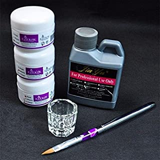 Pro Simply Nail Art Kits Acrylic Liquid Powder Pen Dappen dish Tools Set