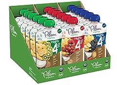 GREAT BLENDS OF FRUITS, VEGGIES, PROTEIN & GRAINS: Banana, Blueberry, Sweet Potato, Carrot, Greek Yogurt & Millet; Strawberry, Banana, Greek Yogurt, Kale, Amaranth & Oat; Banana, Kiwi, Spinach, Greek Yogurt & Barley are fun, yummy, and real - a favor...