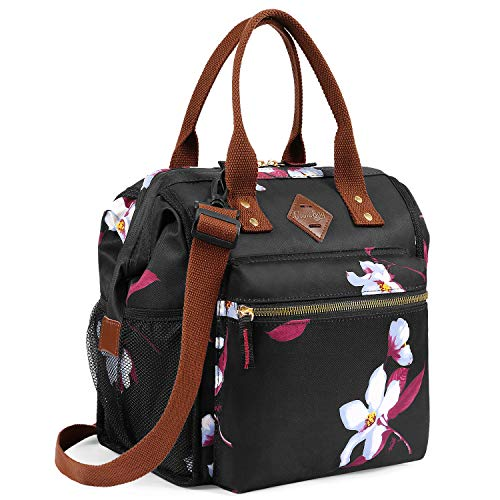 UTOTEBAG Insulated Lunch Bag Leak Proof Lunch Box Thermal Lunch Tote with Removable Shoulder Strap for Women Wide Open Snacks Organizer for Work