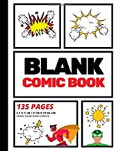 Blank Comic Book: Create Your Own Comic Strip, Blank Comic Panels, 135 Pages, Red (Large, 8.5 x 11 in.) (Action Comics) (Volume 1) PDF