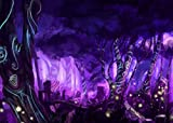 FHZON 7x5ft Psychedelic Forest Backdrop Purple Haze Wall Wallpaper Theme Party Photography Photo Booth Prop MBLHFH15