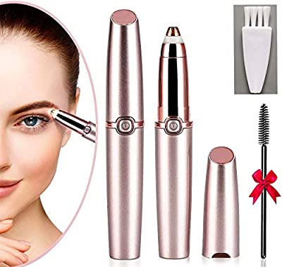 Eyebrow Hair Remover, Eyebrow Trimmer for Women,Razor with Light Hair Remover, Painless Trimmer for Women, Portable Eyebrow Hair Removal for Nose, Face