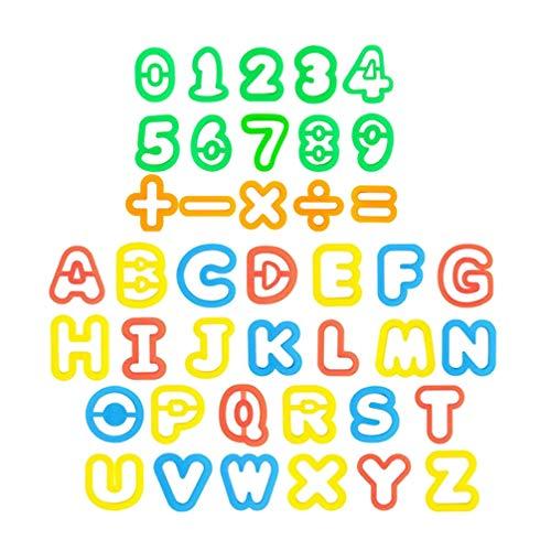 Tomaibaby 41 Piezas Herramientas de Masa Plastilina Molde de Arcilla para Niños Letras Números Símbolos Kit de Molde de Arcilla para Masa de Arcilla Seca Al Aire
