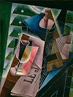 The High Quality Polyster Canvas Of Oil Painting 'Juan Gris,Coffee Grinder And Glass,1915' ,size: 8x11 Inch / 20x27 Cm ,this Cheap But High Quality Art Decorative Art Decorative Prints On Canvas Is Fit For Living Room Artwork And Home Decoration And Gifts