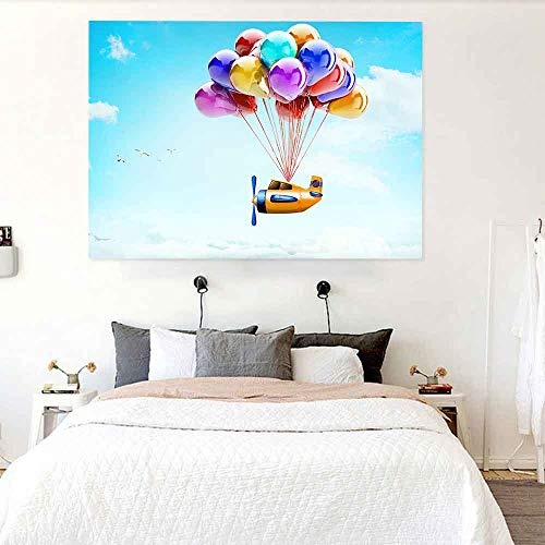 JXWR Tapiz Verano sandía Color Globo Arte Colgante de Pared Decoraciones para Sala de Estar decoración de Dormitorio Familiar 203X152