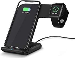 SKEIDO 2 in 1 Charging Dock Station Bracket Cradle Stand Holder Wireless Charger For iPhone XS MaX XR X 8 For apple Watch ...