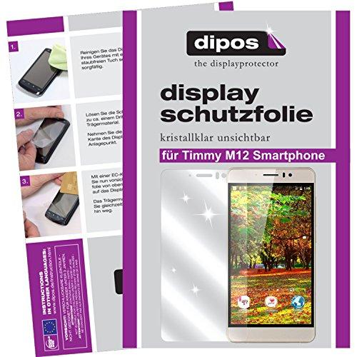 dipos I 2X Schutzfolie klar kompatibel mit Timmy M12 Smartphone Folie Displayschutzfolie