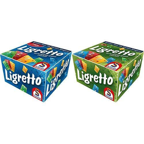 Schmidt Spiele 01101 - Ligretto blau, Kartenspiel &  Spiele 01201 - Ligretto grün, Kartenspiel