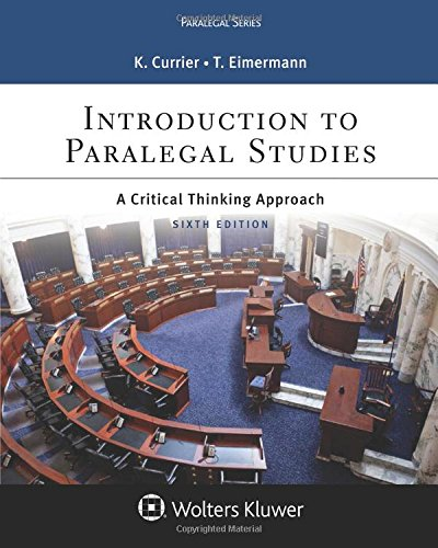 Introduction to Paralegal Studies: A Critical Thinking Approach