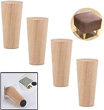 ZJZ Set van 4 houten taps toelopende vervanging bank benen, bank stoel Ottomaanse Loveseat salontafel kast houten meubels ...