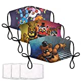 Five Nights At Freddy's Mask Toys Gift for Fnaf Fans Adjustable Freddy Face Mask for Kids Man Women (One size, 3pcc)
