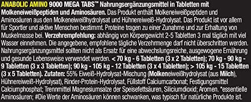 Olimp Anabolic Amino 9000 Mega Tabs , 300 Tabletten, 1er Pack (1 x 675 g Dose) - 5