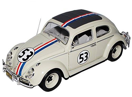 Mattel Volkwagen Käfer Herbie Nr 53 The Love Bug 1962 1/18 Hot Wheels Modell Auto