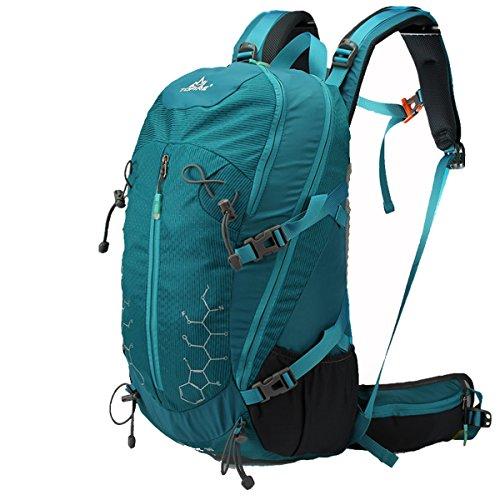 TOFINE Backpack Lightweight Daypack Waterproof for Internal Frame Backpacks Dark Green 30L