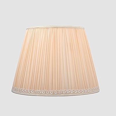 Tela Plisado pantallas de lámparas, Tambor Pantalla de lámpara retro cónico Pantalla de lámpara para lámpara de mesa Lino Sombra clara Cama Cobertor de lámpara Poseedor para E27 portalámparas,D38cm: Amazon.es: Hogar