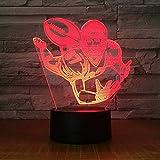Joueur de ballon de rugby 3D LED Veilleuse acrylique Bureau Bar Chambre Éclairage d'ambiance 7 Changement de couleur Illusion Garçon Cadeau d'anniversaire