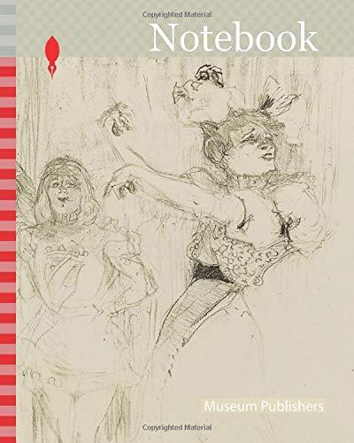 Notebook: Lender Dancing the Bolero in Chilpéric, 1895, Henri de Toulouse-Lautrec, French, 1864-1901, France, Color lithograph on cream wove paper